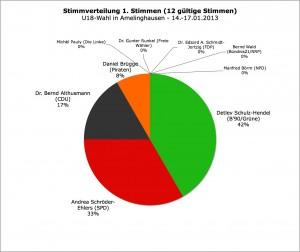Landtagswahl 2013 // U18-Wahl: Erststimmen Amelinghausen